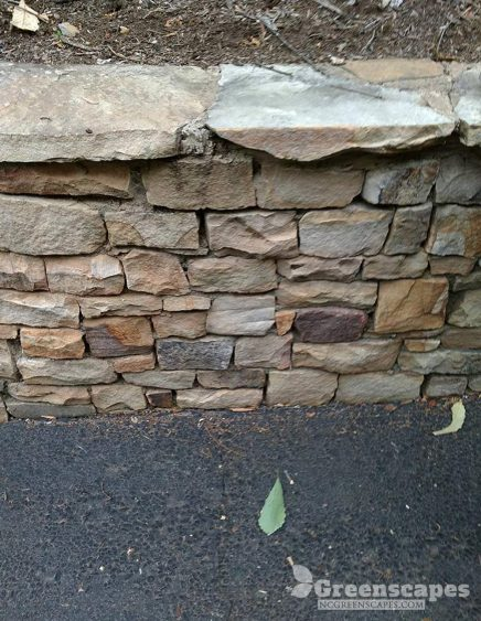 Beautiful dry stone retaining wall completed