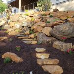 mountain landscaping wall