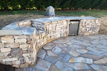 Stone Custom Outdoor Kitchen
