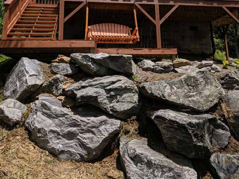 Landscaping Boulder Retaining Wall
