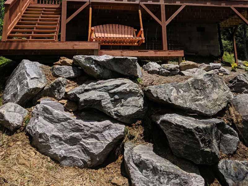 Landscaping Boulder Retaining Wall